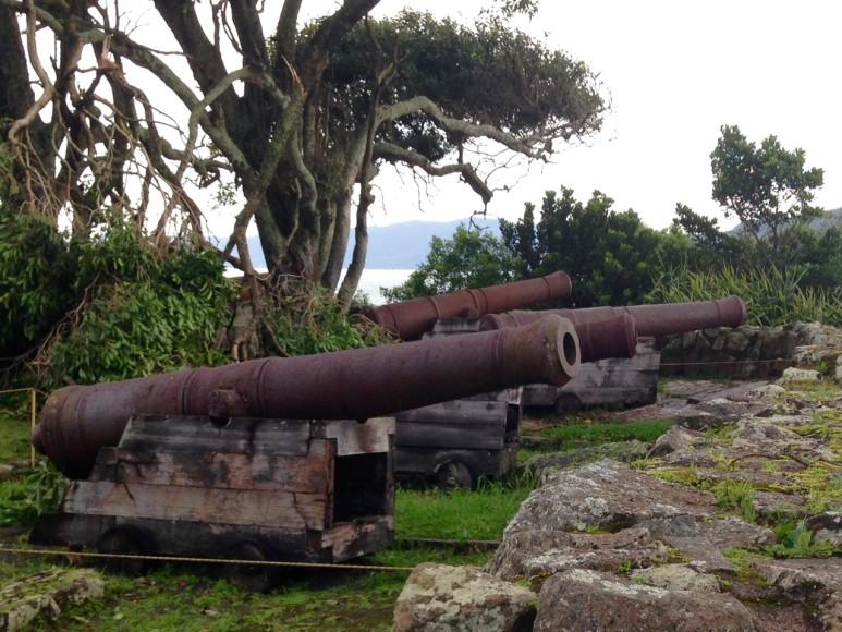 Canhões Fortaleza de Florianopolis
